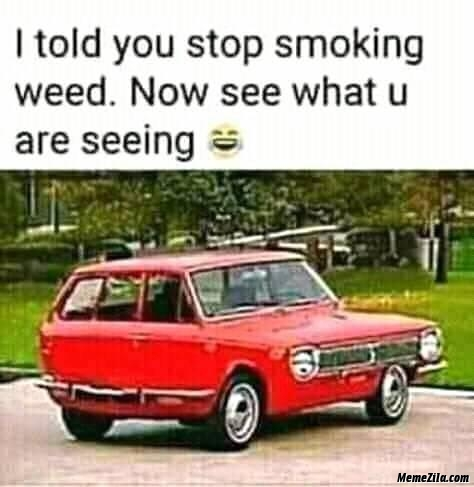 I told you stop smoking weed now see what you are seeing meme