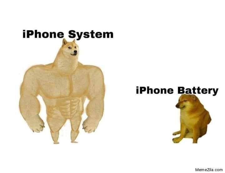 IPhone system vs iPhone battery meme