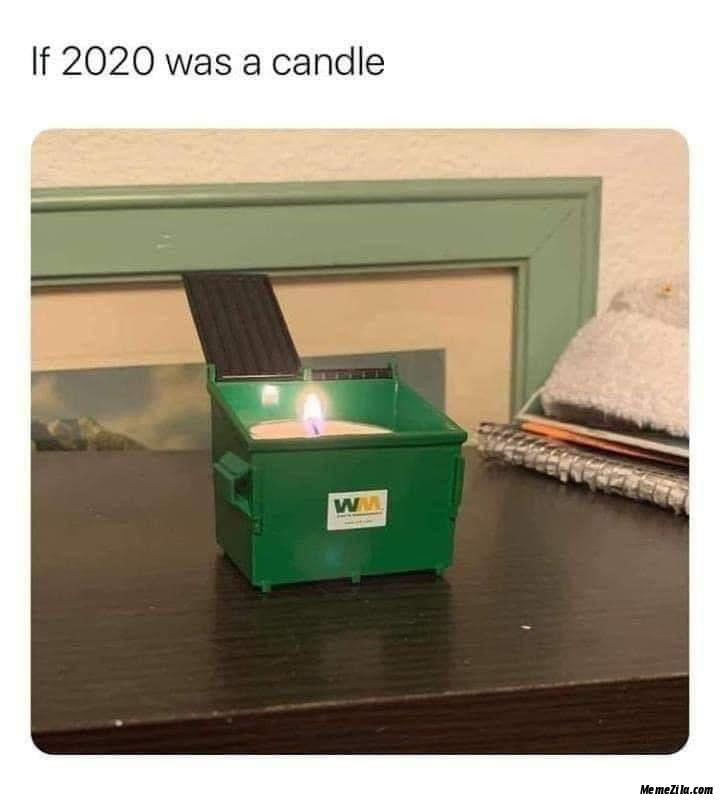 If 2020 was a candle meme