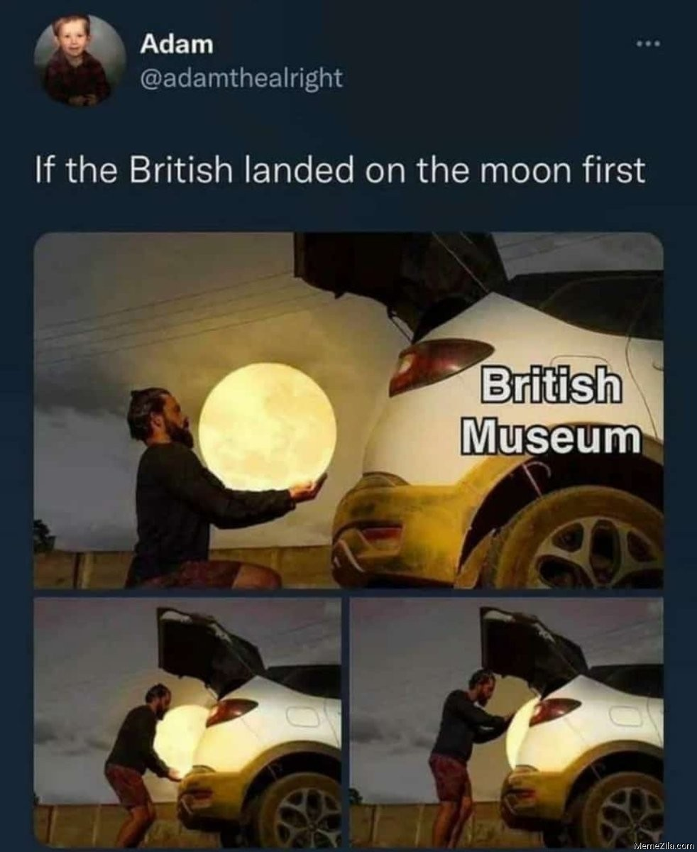 If the british landed on the moon first meme