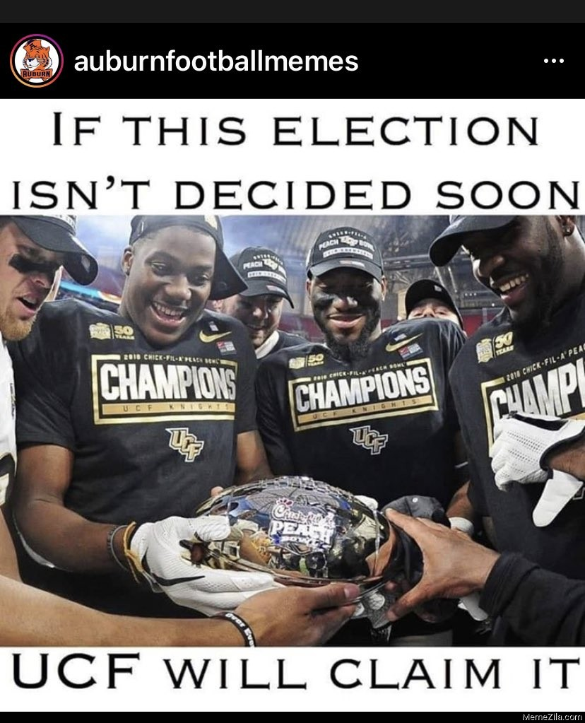 If this election isnt decided soon UCF will claim it meme