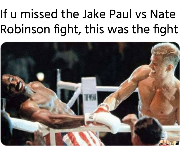 If u missed the Jake Paul vs Nate Robinson fight this was the fight meme
