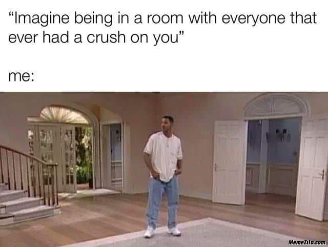 Imagine being in a room with everyone that over had a crush on you meme