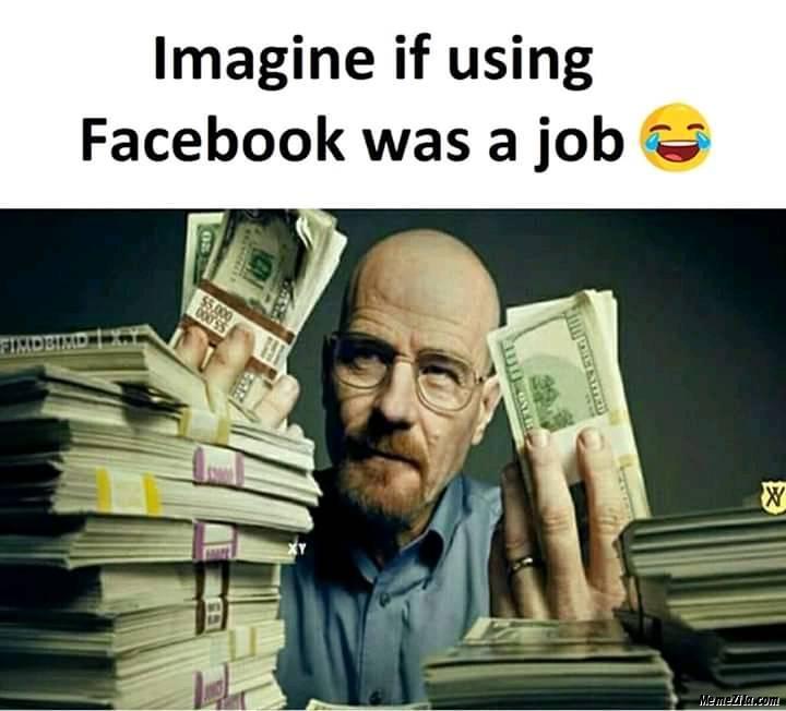 Imagine if using facebook was a job meme