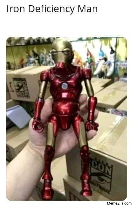 Iron deficiency man meme
