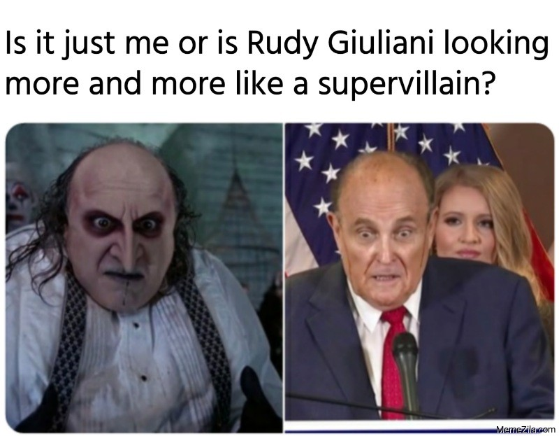 Is it just me or is Rudy Giuliani looking more and more like a supervillain meme