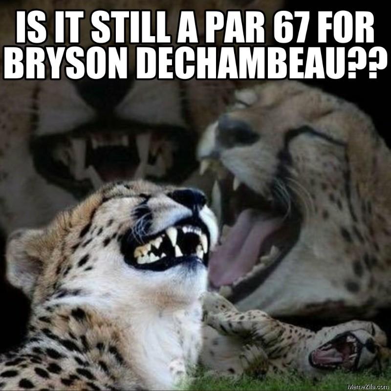 Is it still a par 67 for Bryson DeChambeau meme