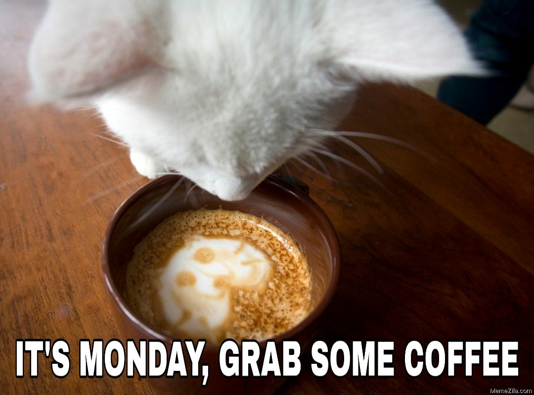 Its monday Grab some coffee meme