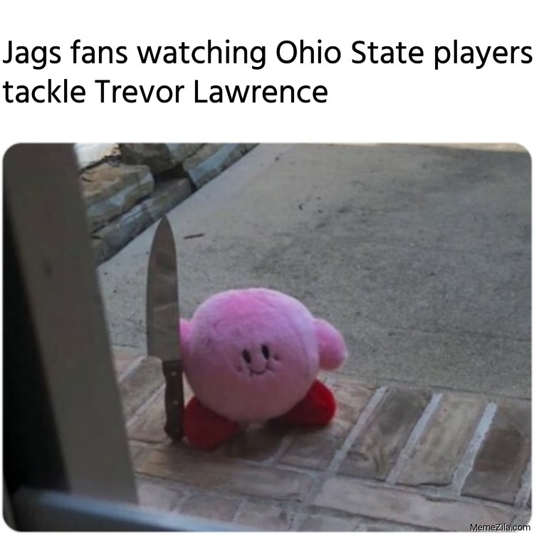 Jags fans watching Ohio State players tackle Trevor Lawrence meme