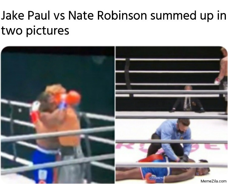 Jake Paul vs Nate Robinson summed up in two pictures meme