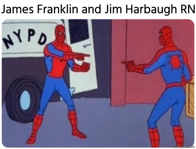 James Franklin and Jim Harbaugh meme