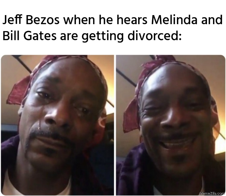 Jeff Bezos when he hears Melinda and Bill Gates are getting divorced meme
