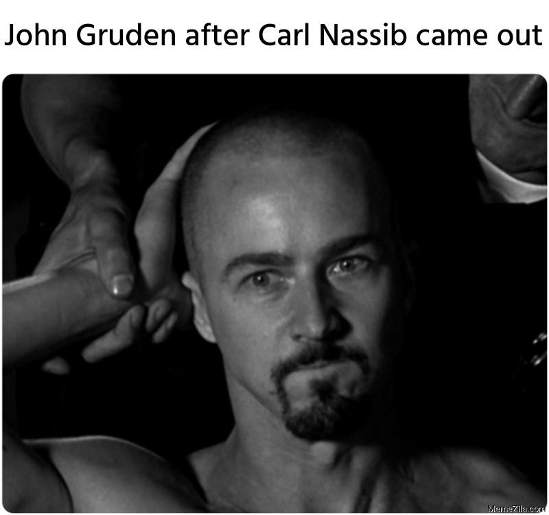 John Gruden after Carl Nassib came out meme