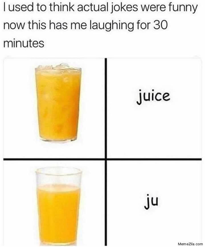 Juice without ice is Ju Juice Ju meme