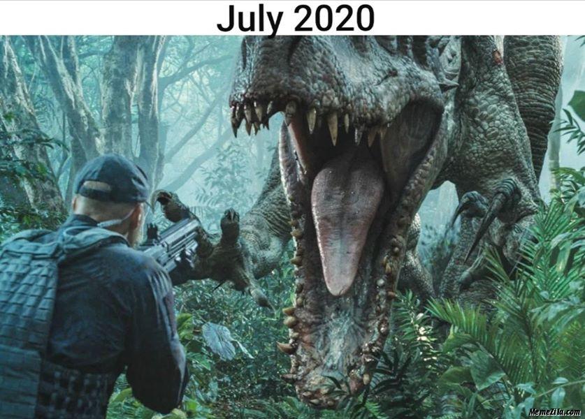 July 2020 Dinosaur meme