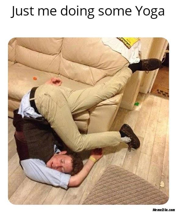 Just me doing some yoga meme