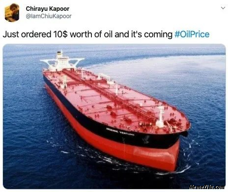 Just order $10 worth of oil and its coming meme