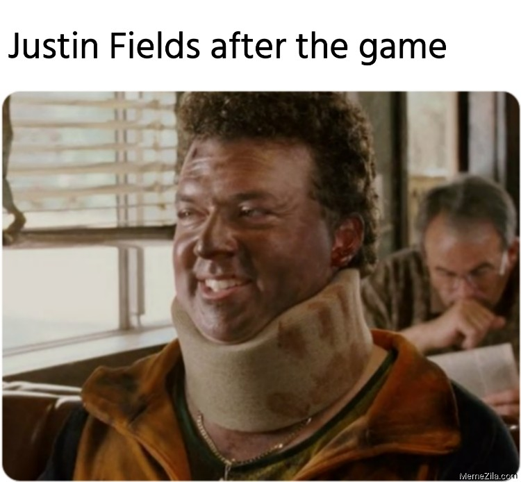 Justin Fields after this game meme