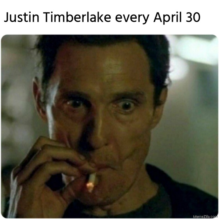 Justin Timberlake every April 30 meme