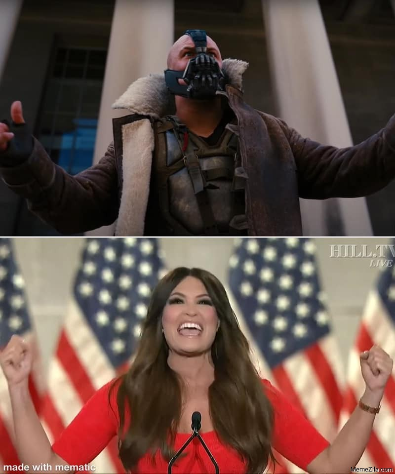 Kimberly Guilfoyle challenge accepted by Bane Meme