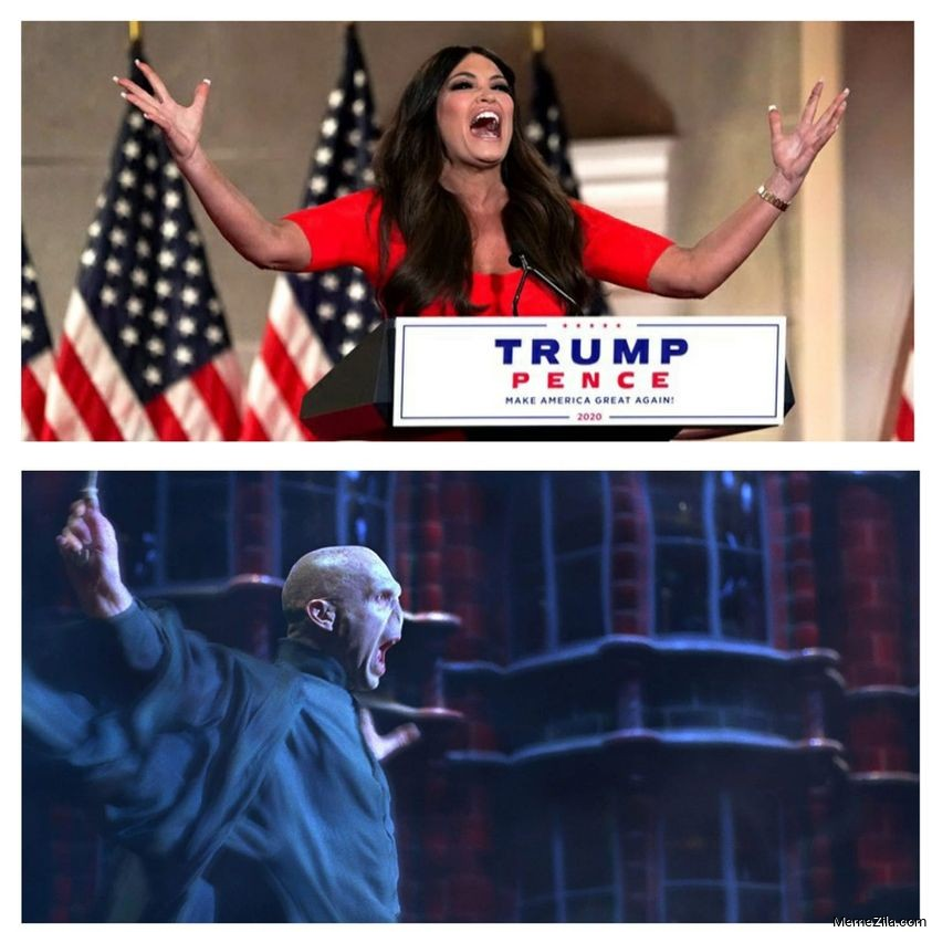 Kimberly Guilfoyle challenge accepted by Lord voldemort Meme