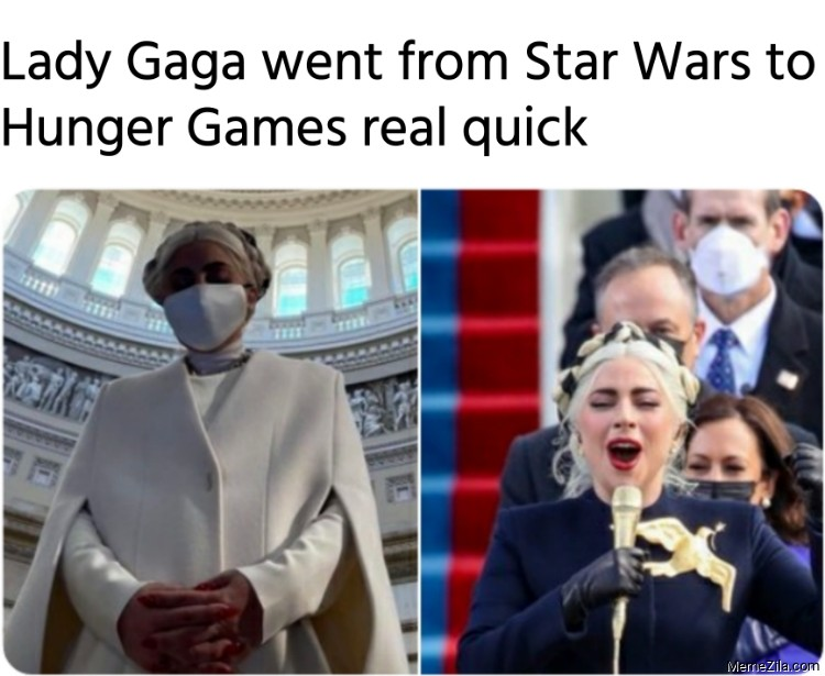 Lady Gaga went from Star Wars to Hunger Games real quick meme