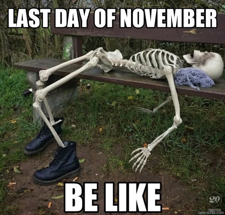 Last day of november be like meme
