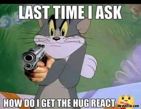 Last time I ask How do I get the Hug React meme