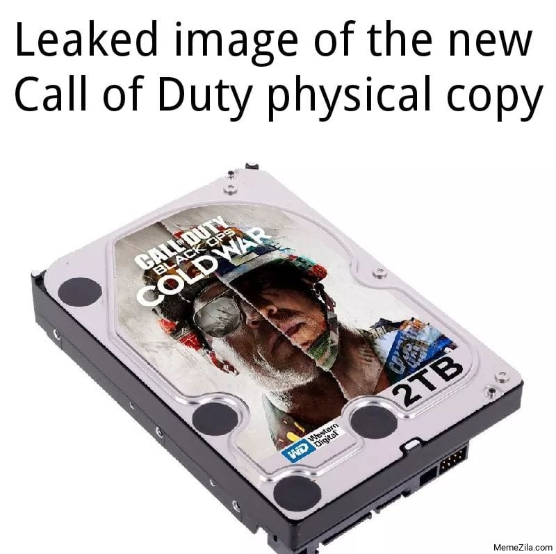Leaked copy of the new Call of Duty physical copy meme