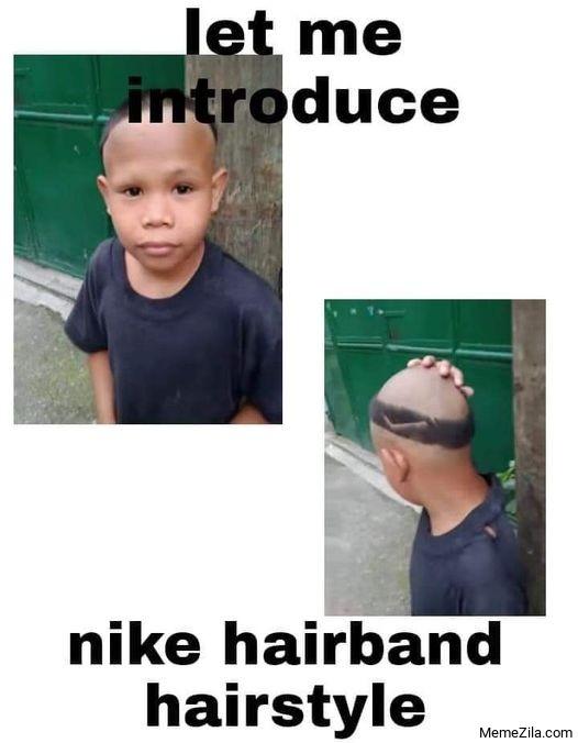 Let me introduce Nike hairband hairstyle meme