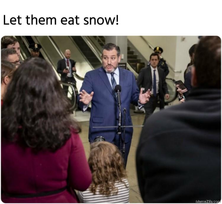 Let them eat snow meme
