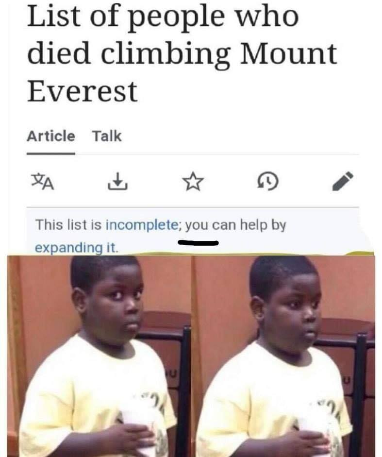 List of people who died climbing mount everest meme