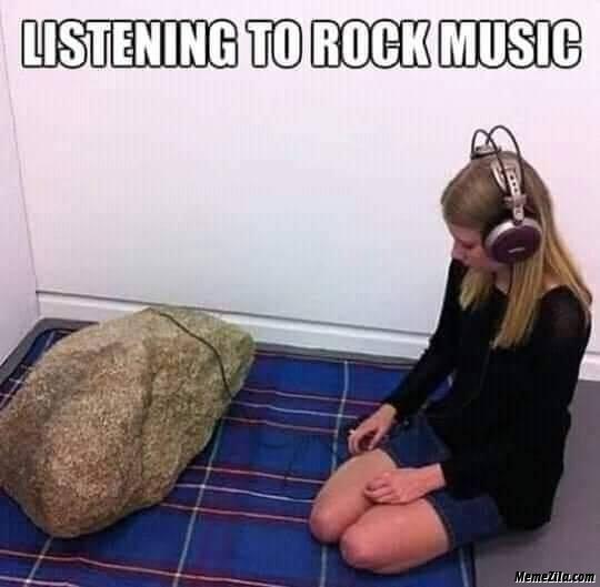 Listening to rock music meme