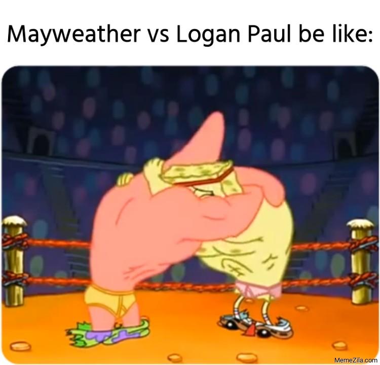 Logan Paul vs Mayweather be like meme