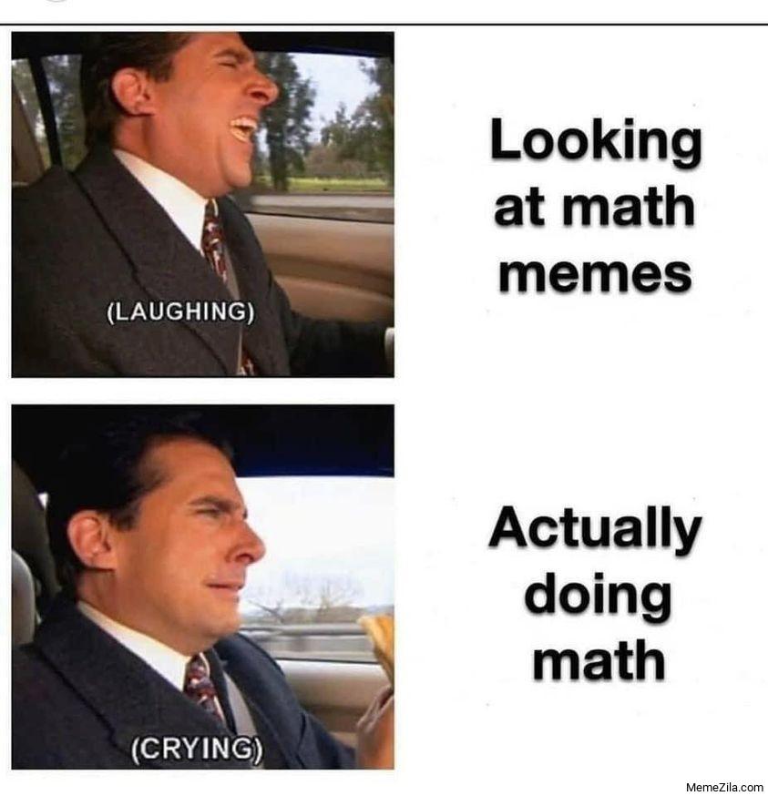 Looking at math memes Actually doing math meme