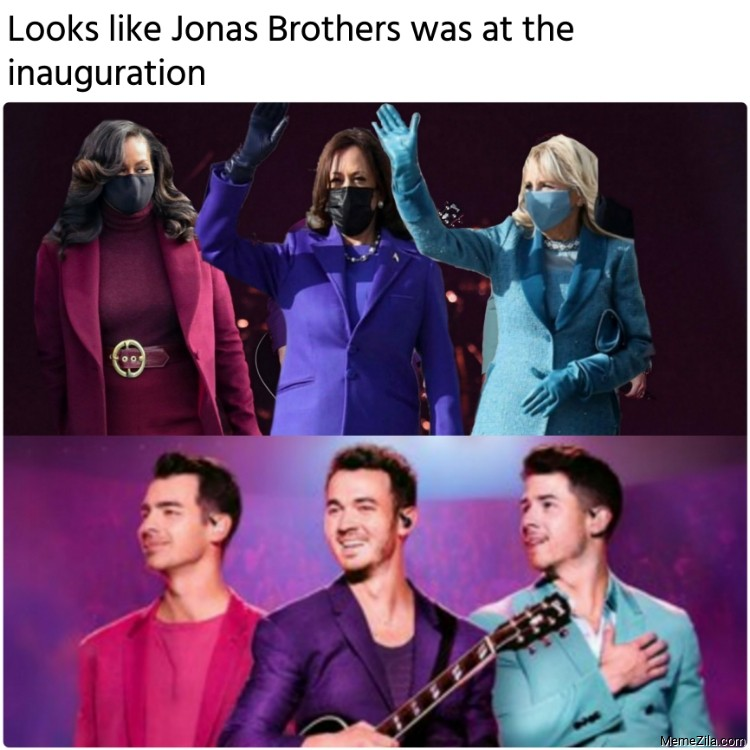 Looks like Jonas Brothers was at the inauguration meme