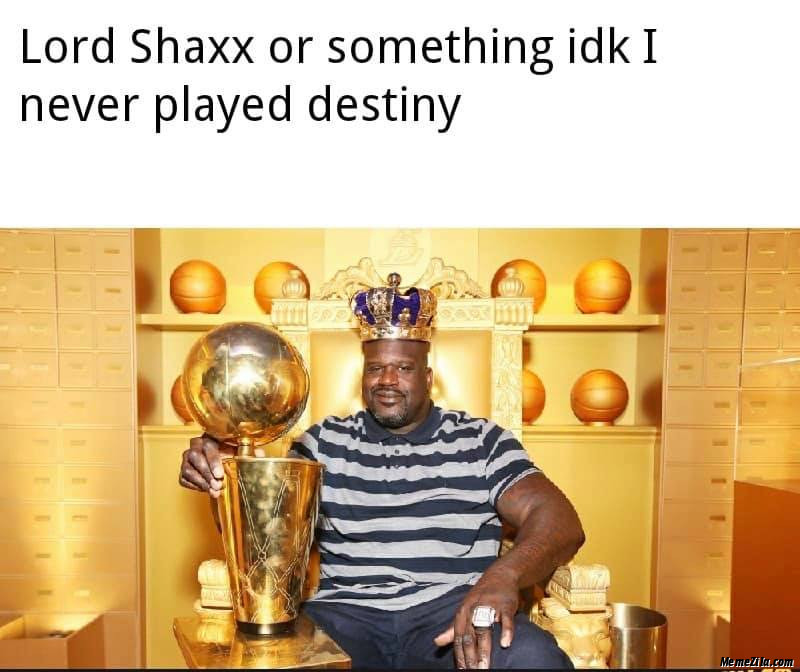 Lord shaxx or something idk I never played destiny meme