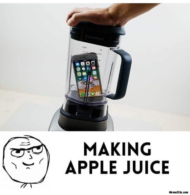 Making apple juice meme