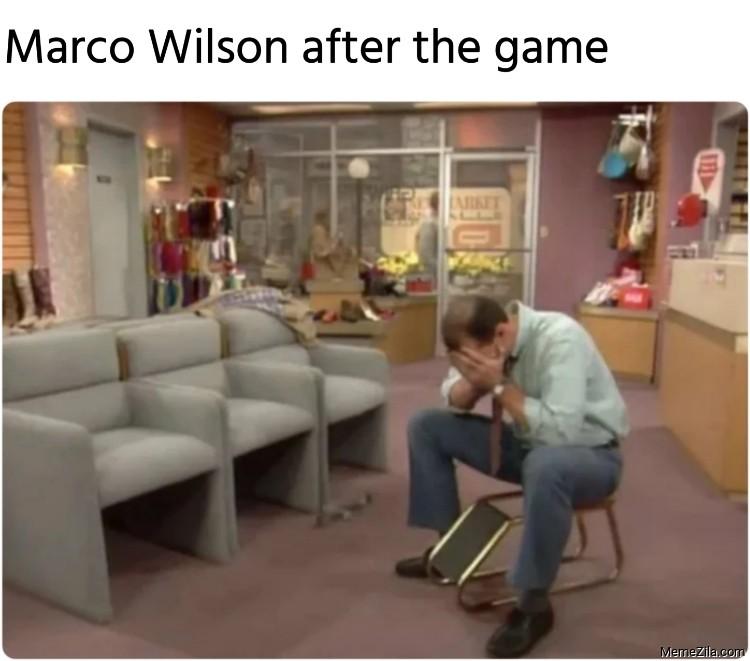 Marco Wilson after the game meme