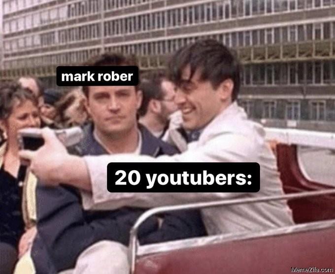 Mark Rober vs 20 youtubers meme