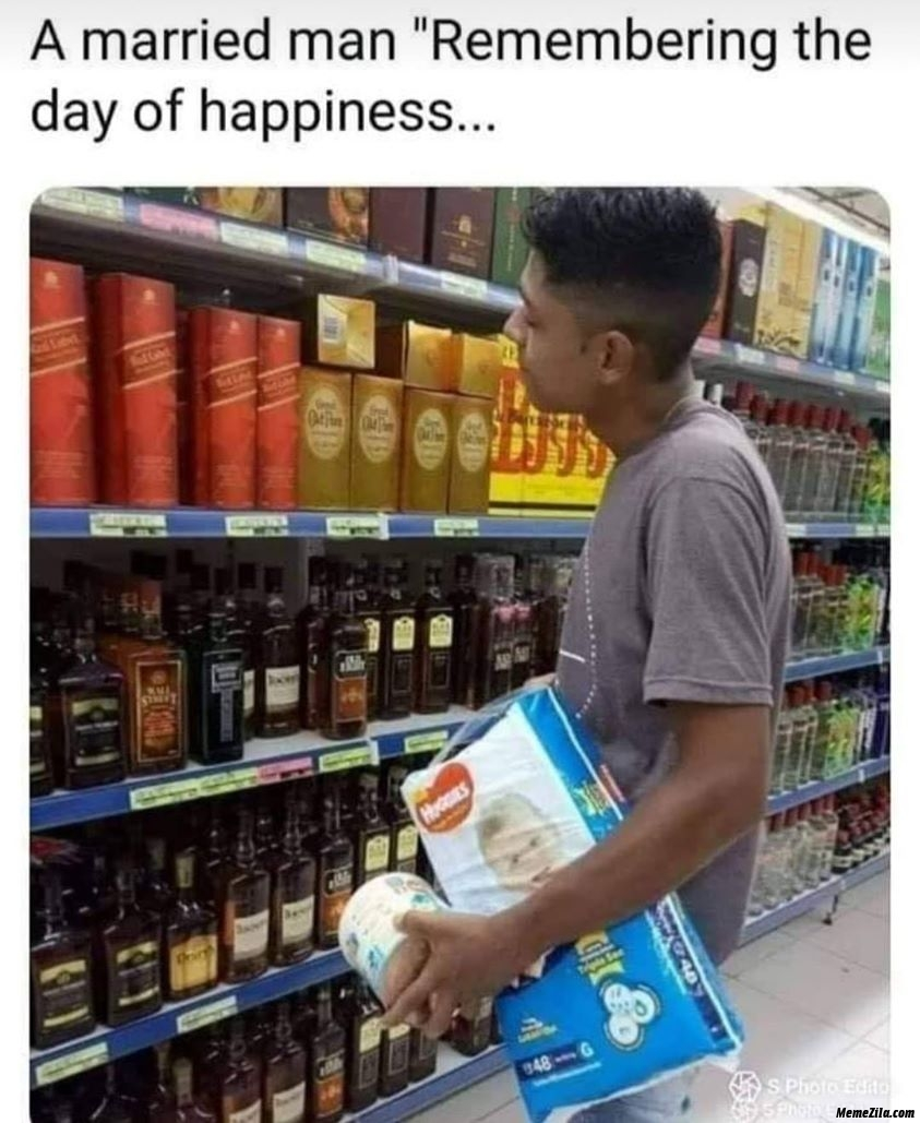 Married man remembering the day of happiness meme