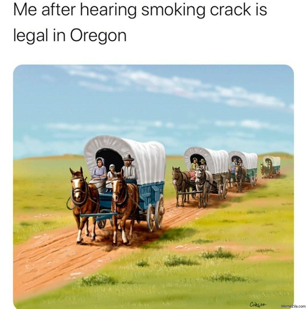 Me after hearing smoking crack is legal in Oregon meme