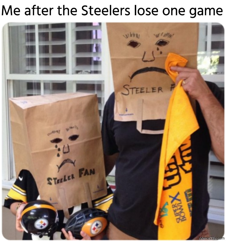 Me after the Steelers lose one game meme