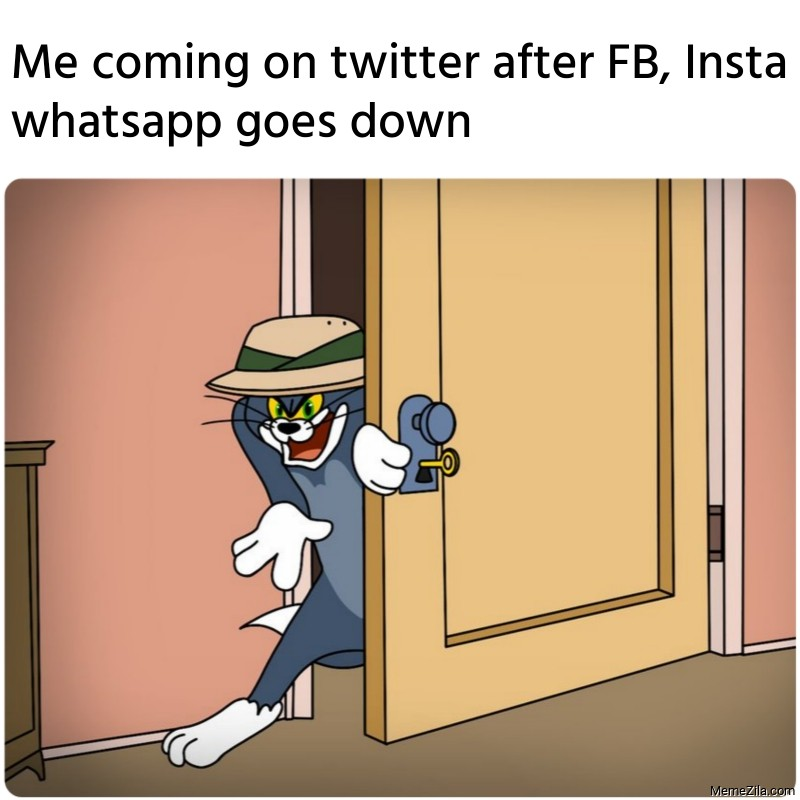Me coming on twitter after FB, Insta whatsapp goes down meme