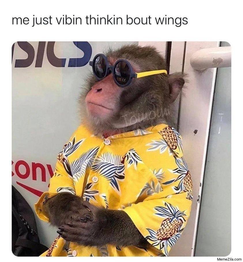 Me just vibin thinkin bout wings meme