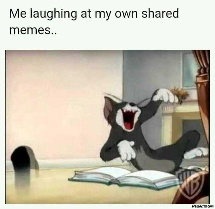 Me laughing at my own shared memes