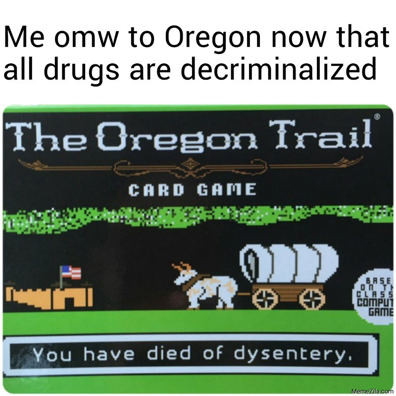 Me omw to Oregon now that all drugs are decriminalized meme