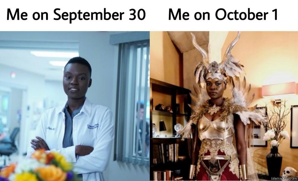 Me on September 30 vs Me on October 1 The Resident meme
