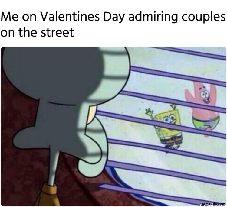 Me on Valentines Day admiring couples on the street meme