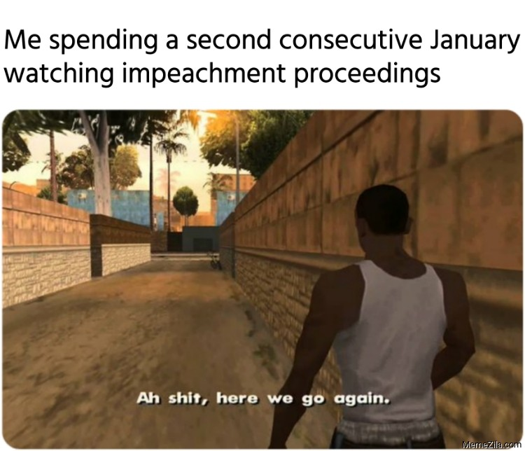 Me spending a second consecutive January watching impeachment proceedings meme